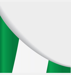 Nigerian flag background vector