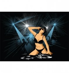night entertainment vector image
