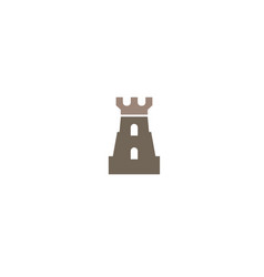 old castle tower with big door in windows for logo vector image