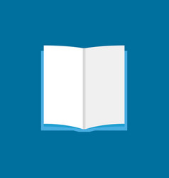 open book sign or icon in flat style vector image