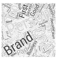 Personal Branding for Success Word Cloud Concept vector image