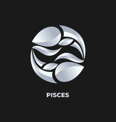Pisces Horoscope Icon vector image