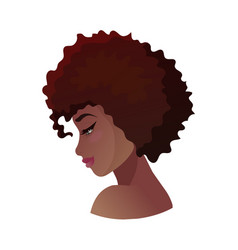 Profile young african american woman vector