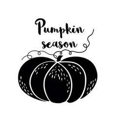 pumpkin season black logo pumpkin icon hand drawn vector image