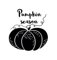 pumpkin season black logo pumpkin icon hand drawn vector image
