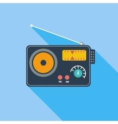 Radio single icon vector