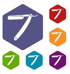 Razor blade icons set vector
