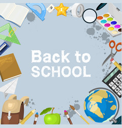school items background back vector image
