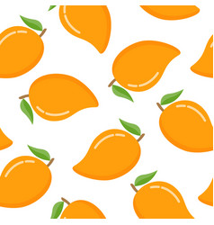 seamless pattern with mango on a white background vector image