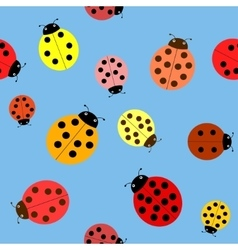 Seamless the ladybugs vector image