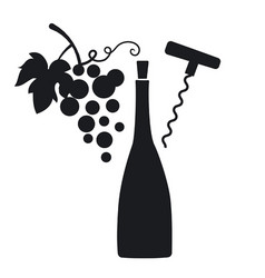 sign and logo for winery vector image