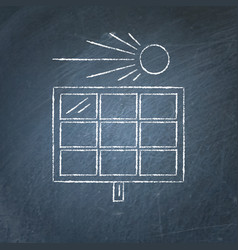 solar panel sketch on chalkboard vector image