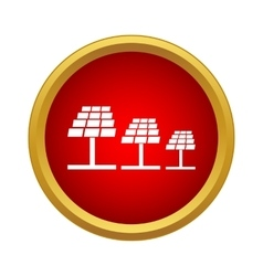 Solar panels icon simple style vector
