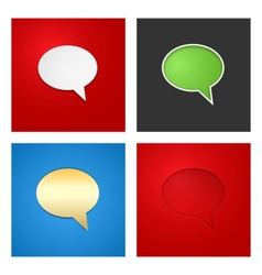 Speech Bubble Background Set vector image