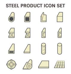 Steel pipe beam vector