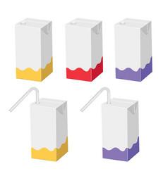 Straw juice carton package vector
