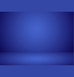 Studio room interior blue color background vector