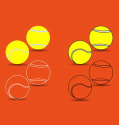 tennis ball - set vector image