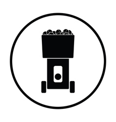Tennis serve ball machine icon vector image vector image