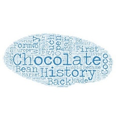 The History Of Chocolate text background wordcloud vector