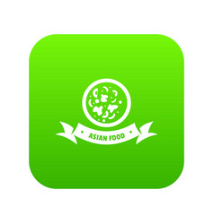 Top asian food icon green vector