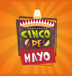 Traditional mexican festival poster cinco de mayo vector