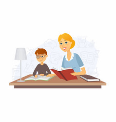 Tutor - modern cartoon people characters vector