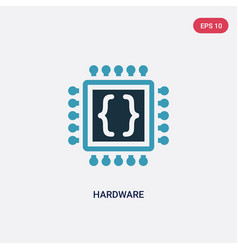 Two color hardware icon from programming concept vector