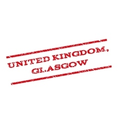 United Kingdom Glasgow Watermark Stamp vector