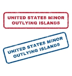 United States Minor Outlying Islands Rubber Stamps vector