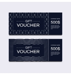 Voucher cards vector