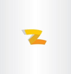z logo letter icon yellow symbol vector image