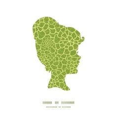 abstract green natural texture girl vector image vector image