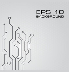 circuit board design background vector image vector image