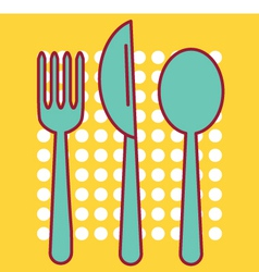 Knife Fork and Tablespoon vector image vector image