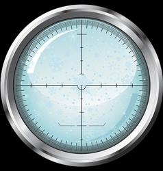 sniper sight in winter vector image