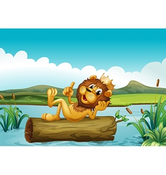 A trunk with a king lion vector image vector image