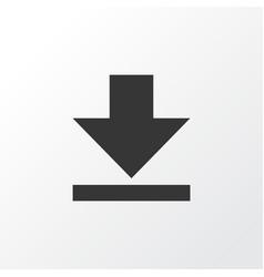down arrow icon symbol premium quality isolated vector image