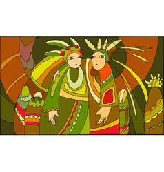 Ethnic People vector image vector image