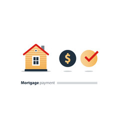 house budget icon real estate investment rent vector image