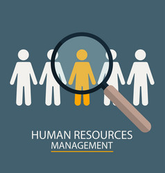 human resources management candidate selection vector image