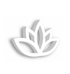 lotus flower 3d icon on white background wellness vector image vector image