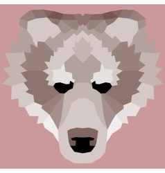 Brown low poly bear vector image