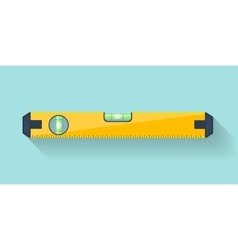 Bubble level tool in a flat style Ruler Building vector image