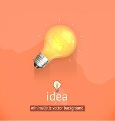 Idea minimalistic background vector image vector image