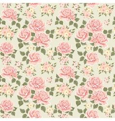 Pink vintage rose pattern vector