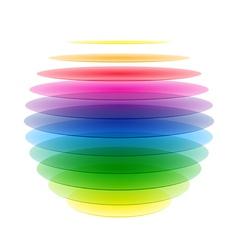 Rainbow sphere vector image vector image