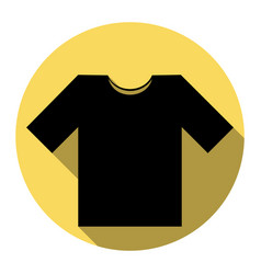 t-shirt sign flat black icon vector image