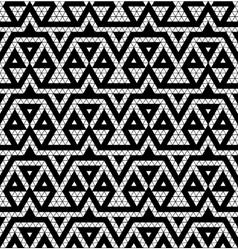 Tribal monochrome lace vector