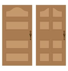 Wooden door on a white background Wooden texture vector image